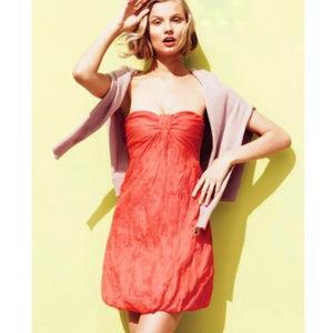 J CREW Strapless Cotton Astin Dress 6 NWT $138